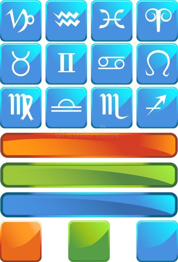 Graphismes d'horoscope de zodiaque - grand dos illustration de vecteur