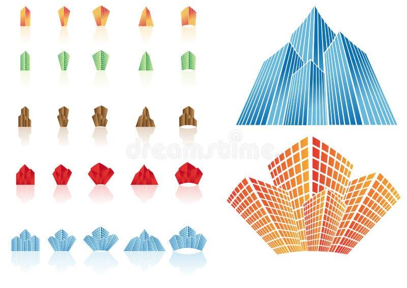 Graphismes d'immeubles de vecteur