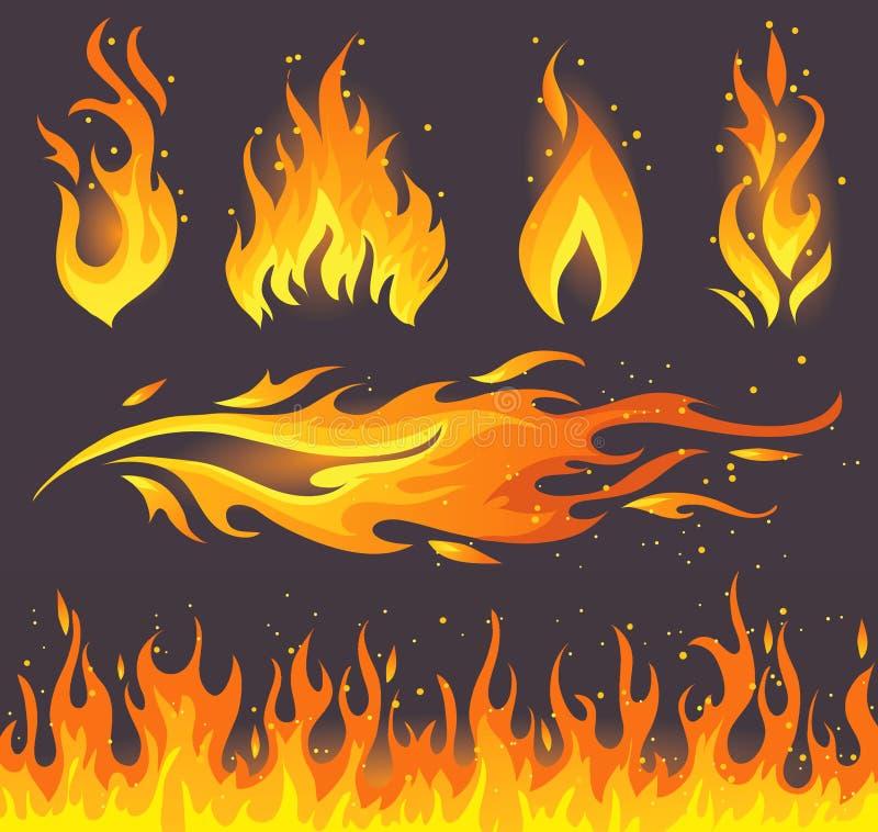 Graphismes d'incendie illustration libre de droits