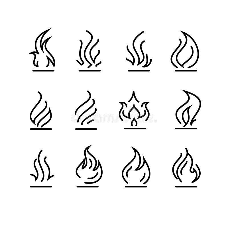 Graphismes d'incendie réglés illustration libre de droits