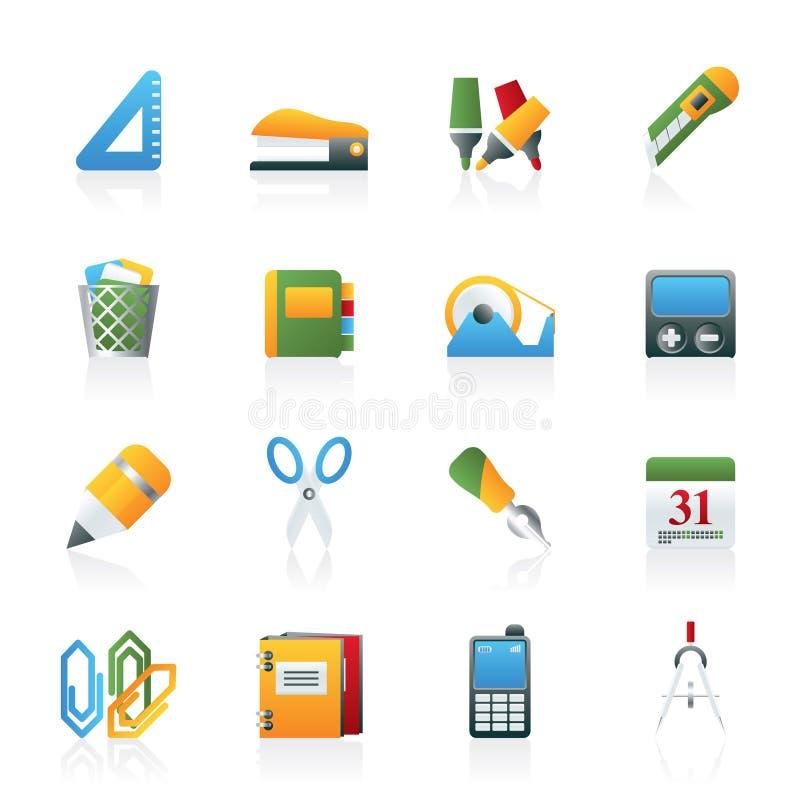 Graphismes d'objets d'affaires et de bureau illustration stock