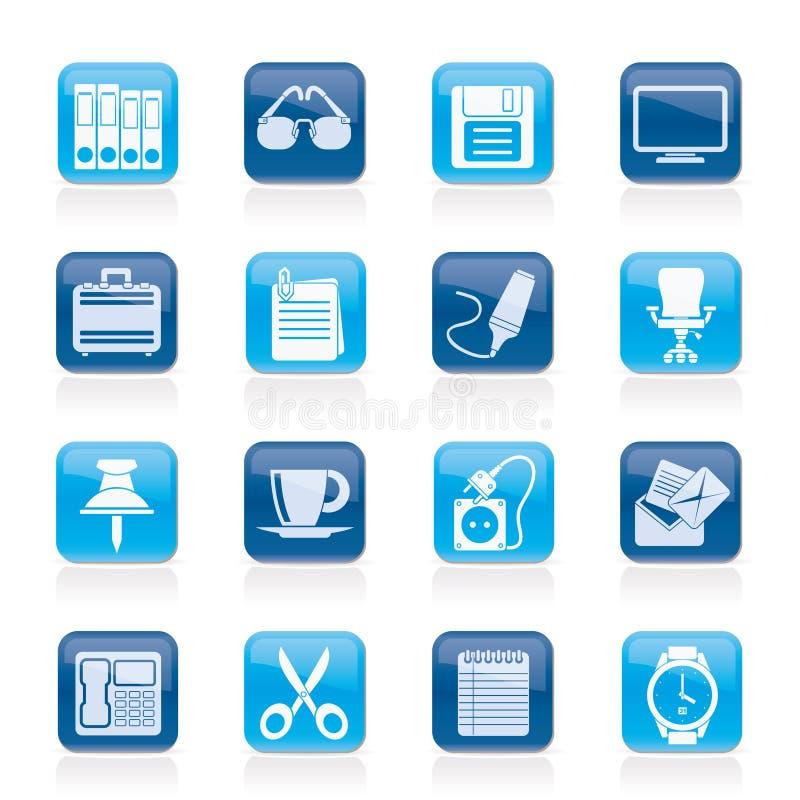 Graphismes d'objets d'affaires et de bureau illustration libre de droits