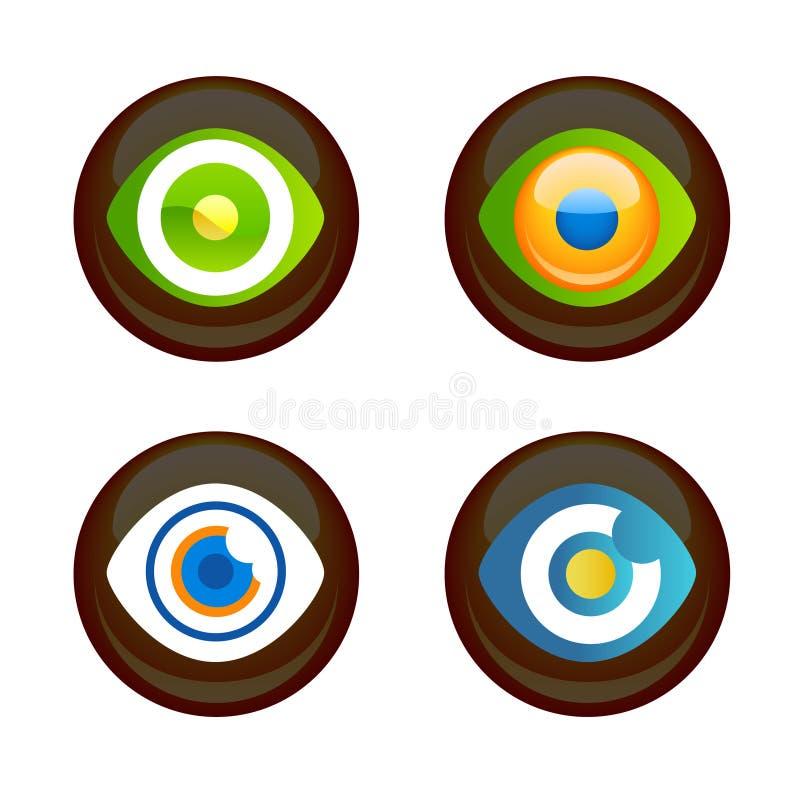 Graphismes d'oeil illustration libre de droits