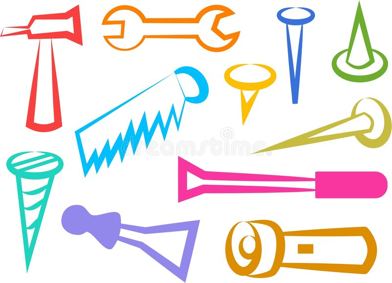 Graphismes d'outil illustration de vecteur