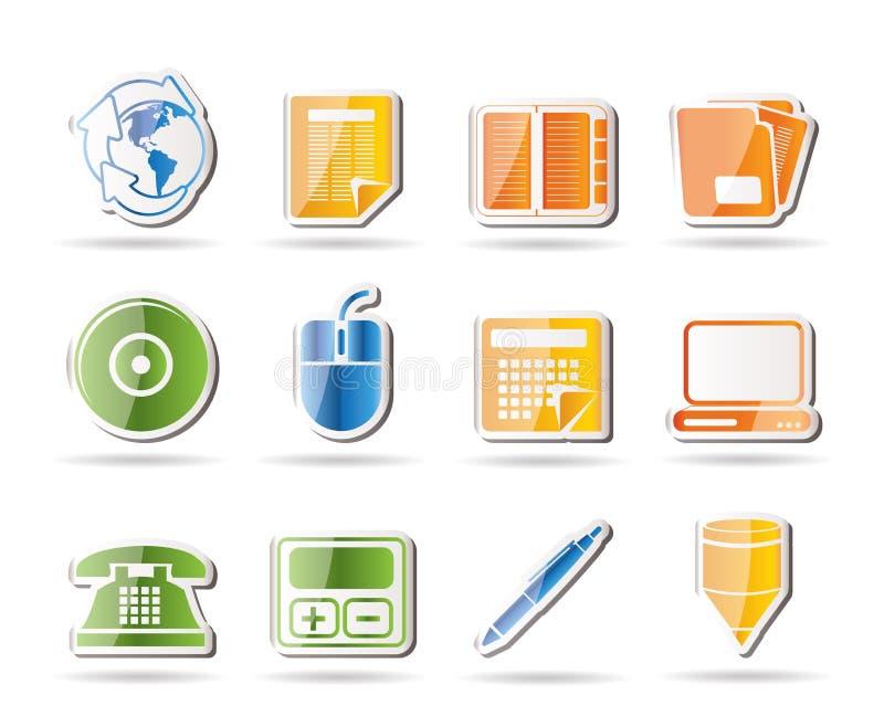 Graphismes d'outils d'affaires et de bureau illustration libre de droits