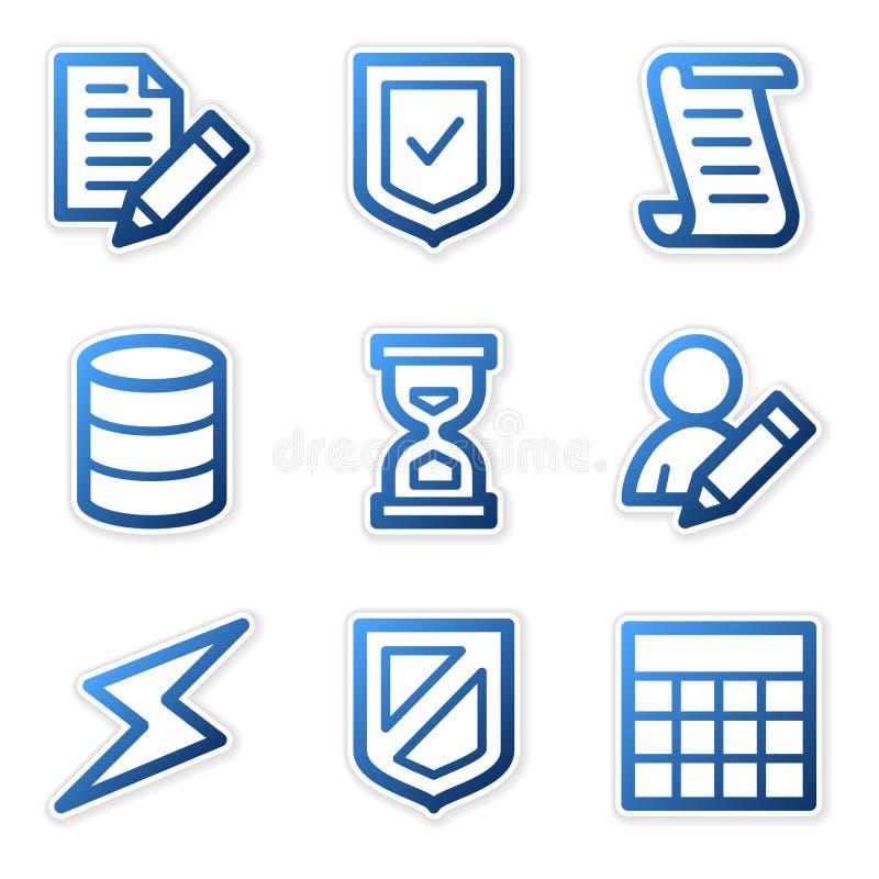 Graphismes de base de données, forme bleue illustration stock