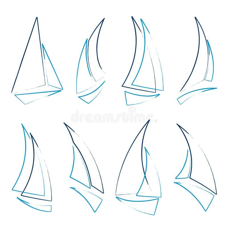 Graphismes de bateau à voiles