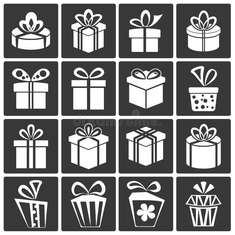 Graphismes de boîte-cadeau illustration stock