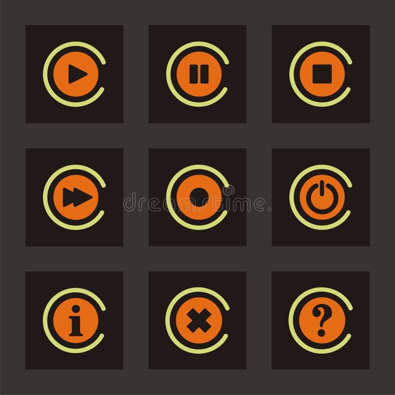 Graphismes de bouton de navigation illustration de vecteur