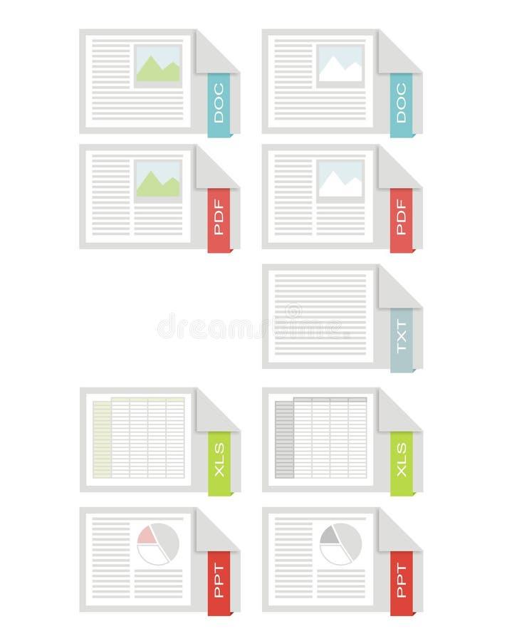 Graphismes de bureau illustration libre de droits