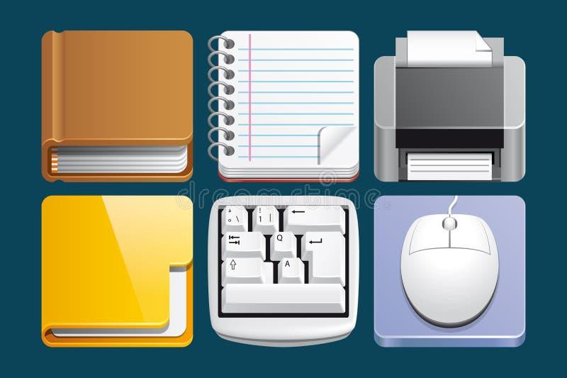 Graphismes de bureau illustration de vecteur