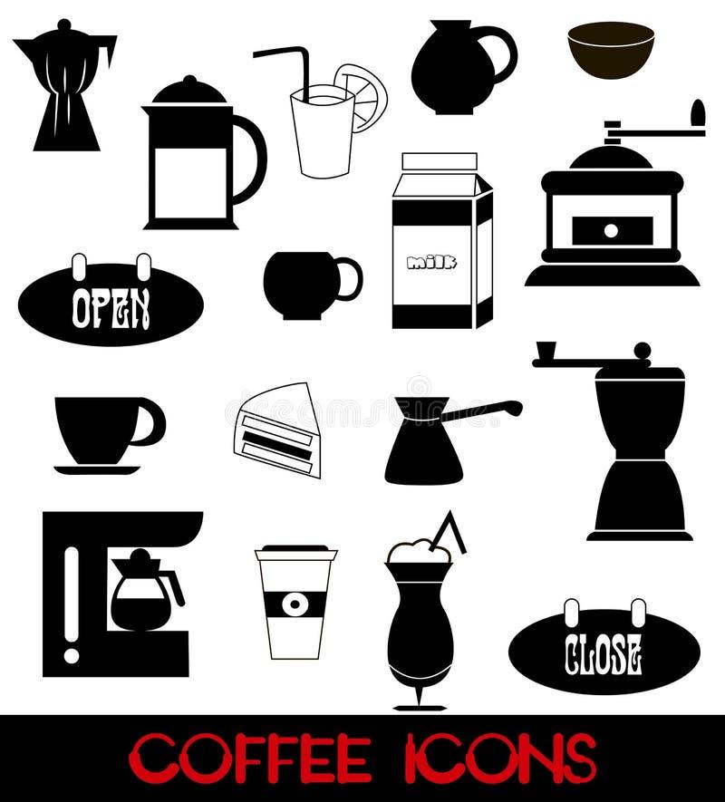 Graphismes de café réglés illustration libre de droits