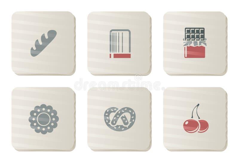 Graphismes de choux et de boulangerie | Série de carton illustration libre de droits