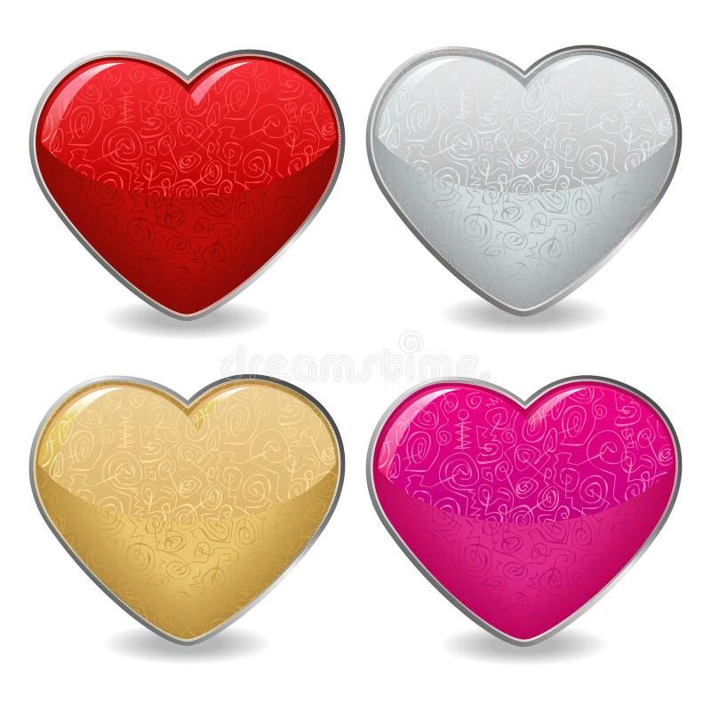 Graphismes de coeur de Valentine illustration stock