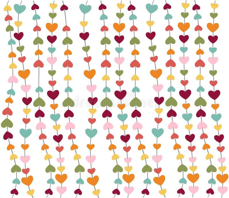 Graphismes de coeur, le jour de valentine, carte, papier peint illustration de vecteur