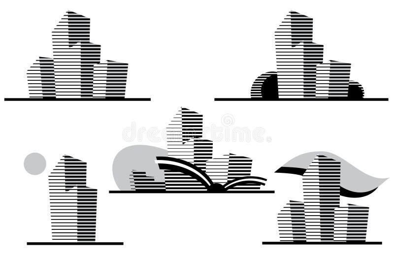 Graphismes de construction. illustration stock