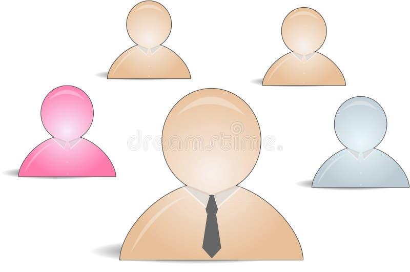 Graphismes de copain de Web en tant que groupe illustration de vecteur