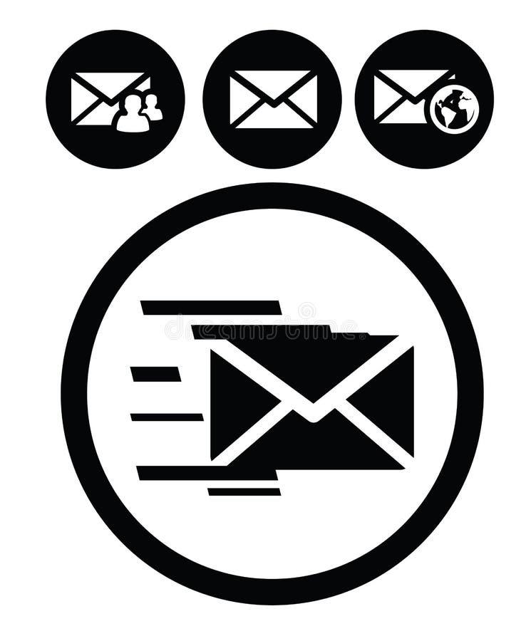 Graphismes de courrier illustration de vecteur
