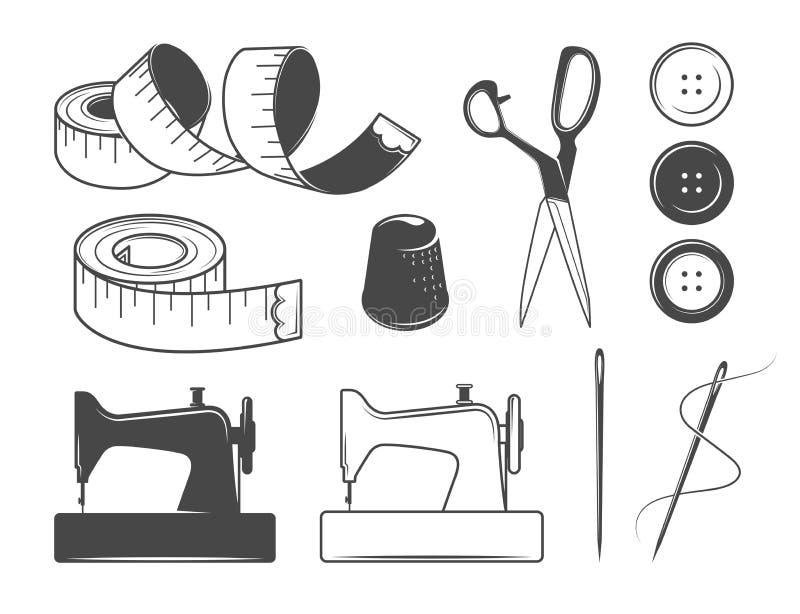 Graphismes de couture illustration de vecteur