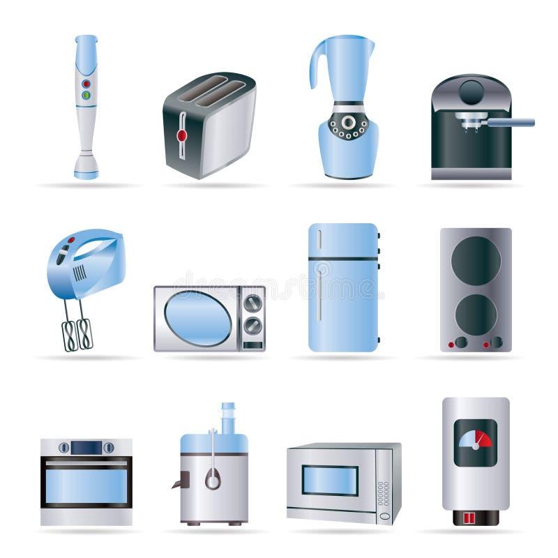 Graphismes de cuisine et à la maison de matériel illustration de vecteur