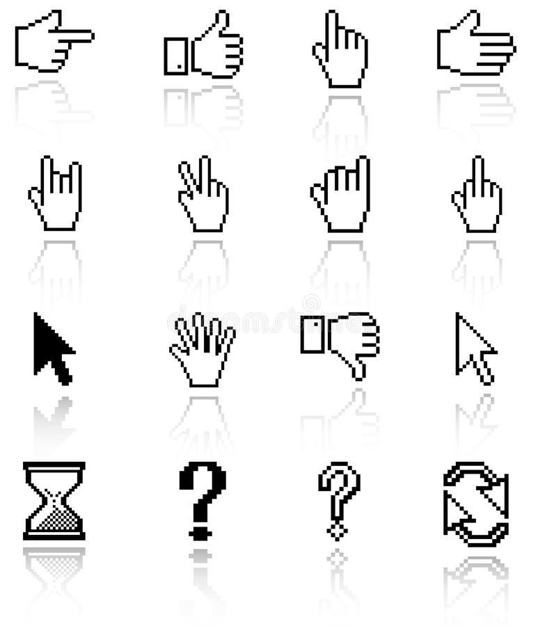 Graphismes de curseur de pixel illustration libre de droits
