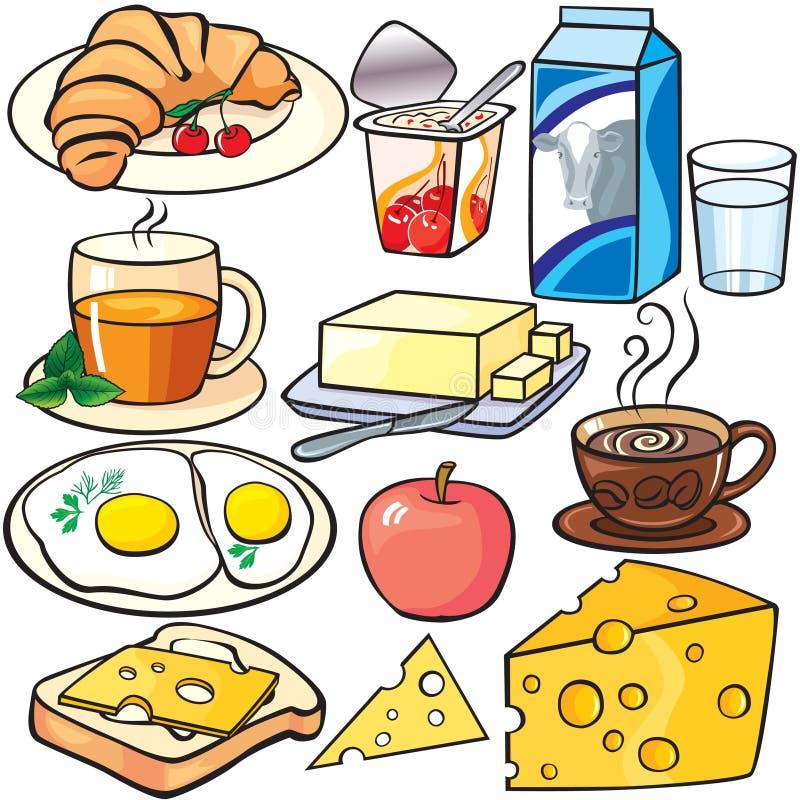 Graphismes de déjeuner réglés illustration de vecteur