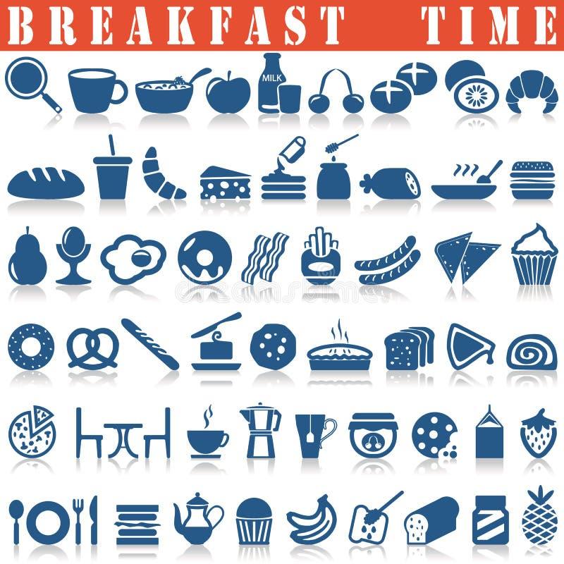 Graphismes de déjeuner réglés illustration stock