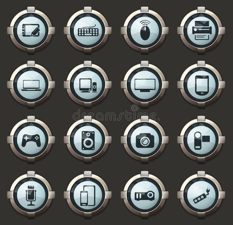 Graphismes de dispositifs réglés illustration stock