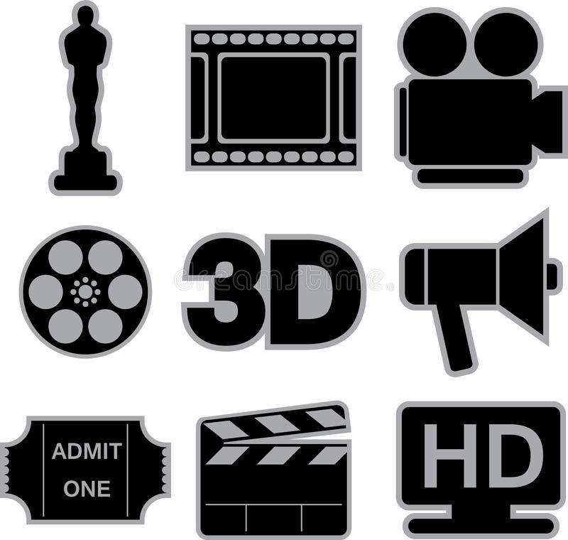 Graphismes de film illustration libre de droits
