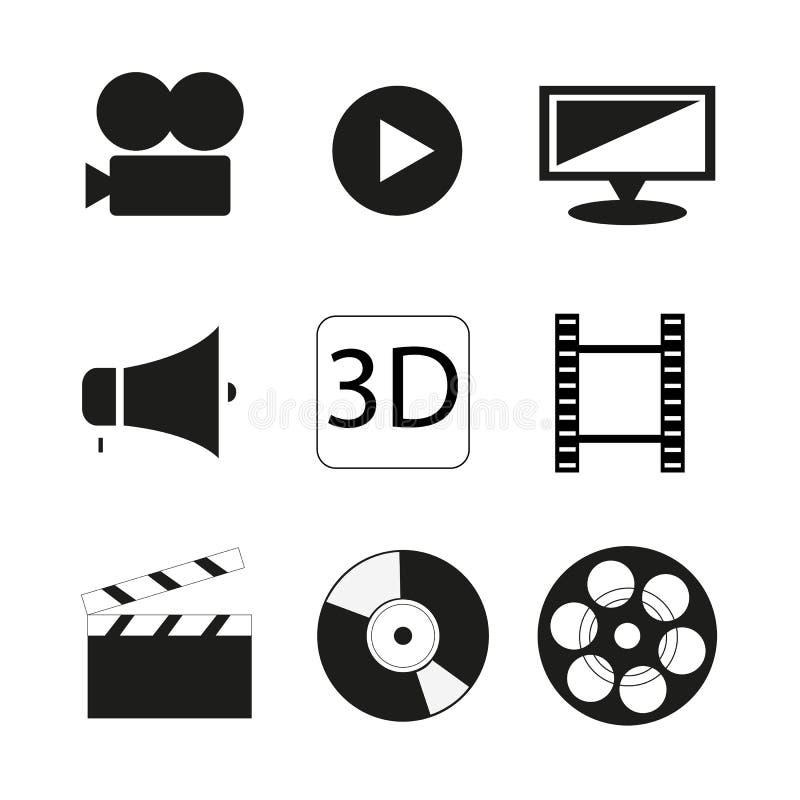 Graphismes de film réglés illustration libre de droits