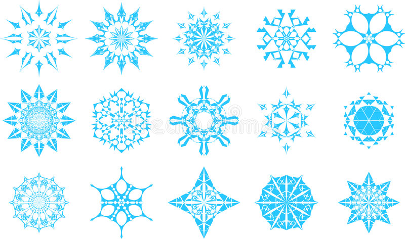 Graphismes de flocon de neige photo libre de droits