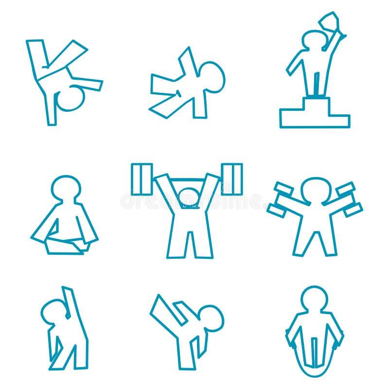 Graphismes de forme physique illustration libre de droits