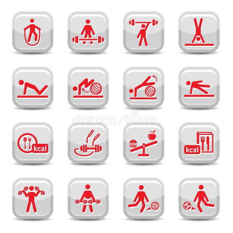 Graphismes de forme physique et de sport illustration stock