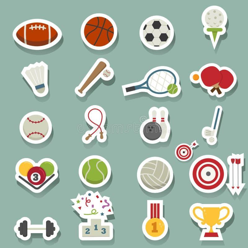 graphismes de forme physique sept sports de silhouettes illustration de vecteur