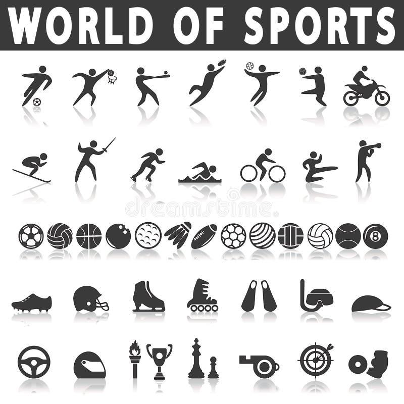 graphismes de forme physique sept sports de silhouettes illustration libre de droits