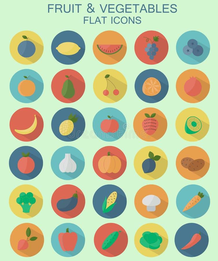 Graphismes de fruits et légumes photo libre de droits