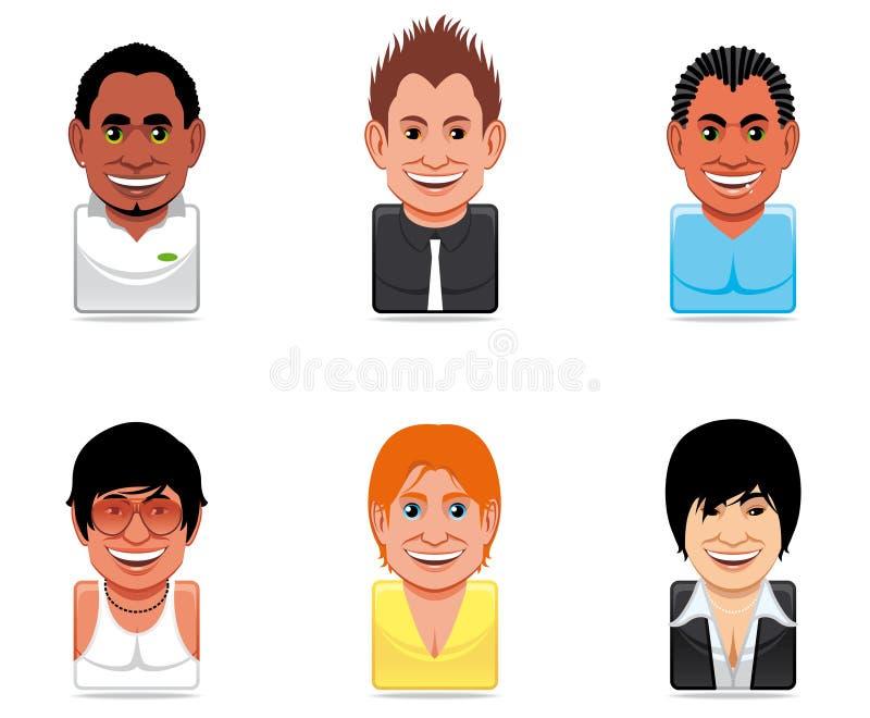 Graphismes de gens d'avatar illustration de vecteur