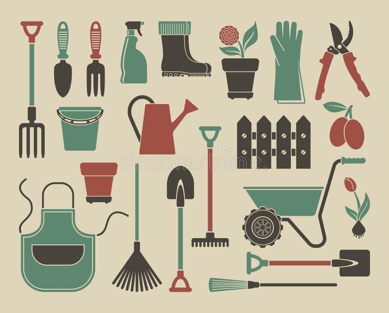 Graphismes de jardin Illustration de vecteur illustration de vecteur