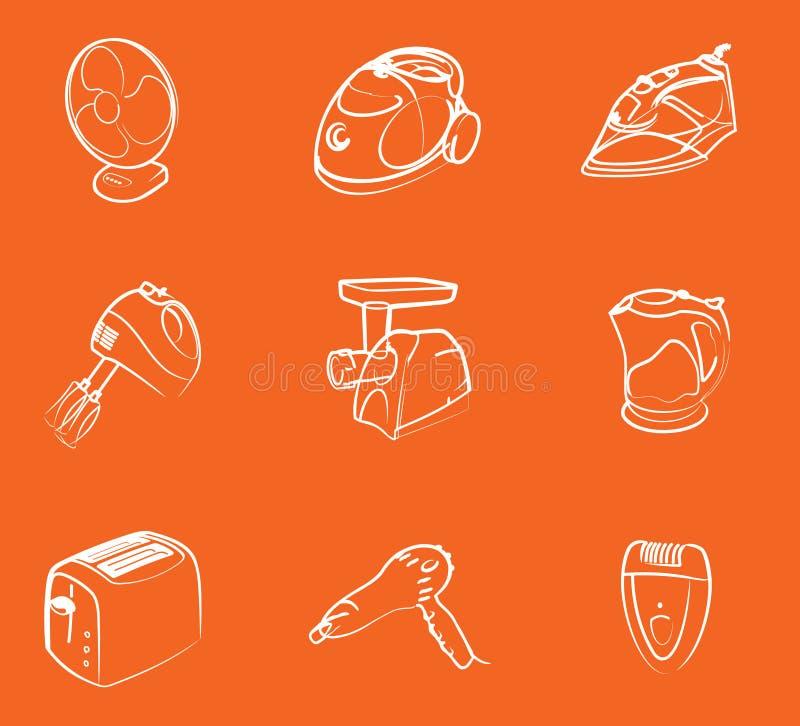 Graphismes de l'électronique à la maison illustration stock