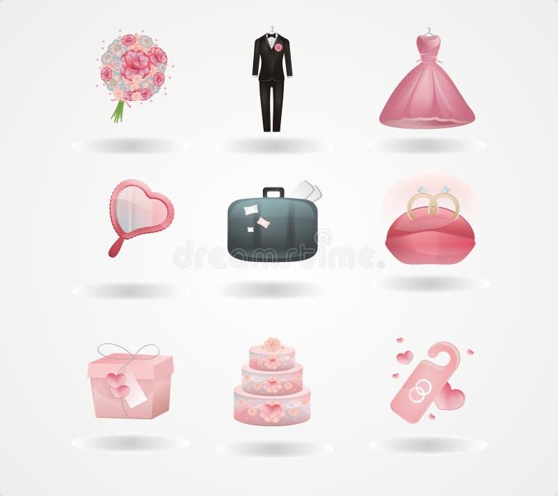 Graphismes de mariage illustration libre de droits