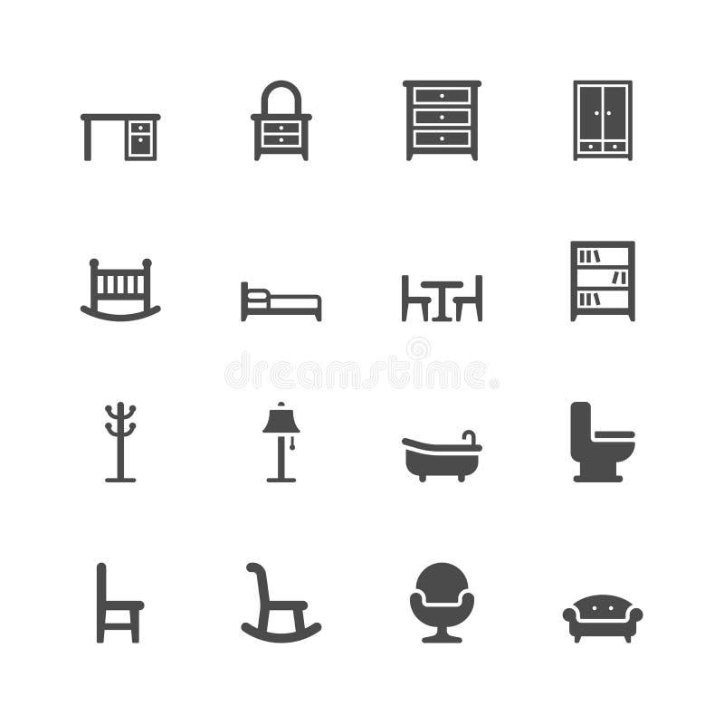 Graphismes de meubles illustration libre de droits