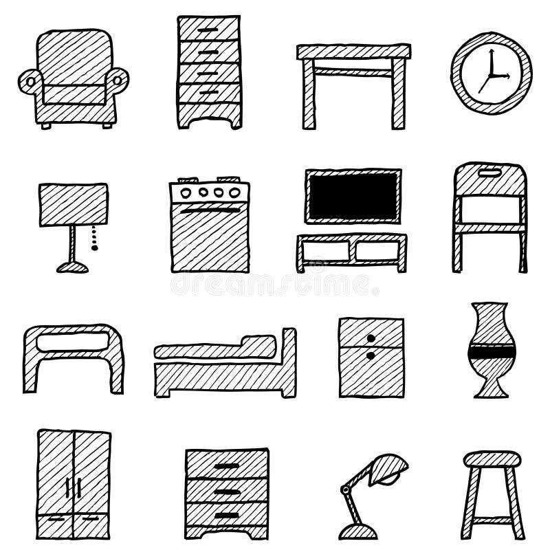 graphismes de meubles illustration de vecteur