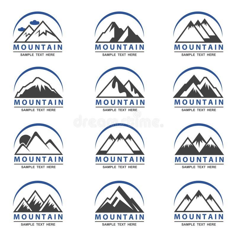 Graphismes de montagne réglés illustration de vecteur