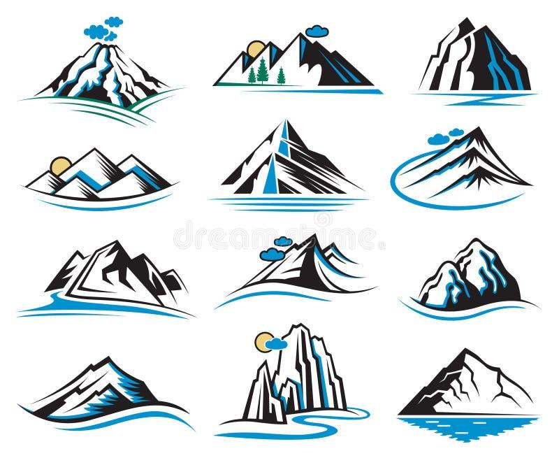 Graphismes de montagne réglés illustration libre de droits