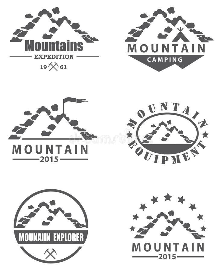 Graphismes de montagne réglés illustration stock