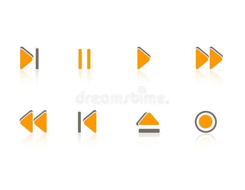 Graphismes de multimédia/musique réglés illustration libre de droits