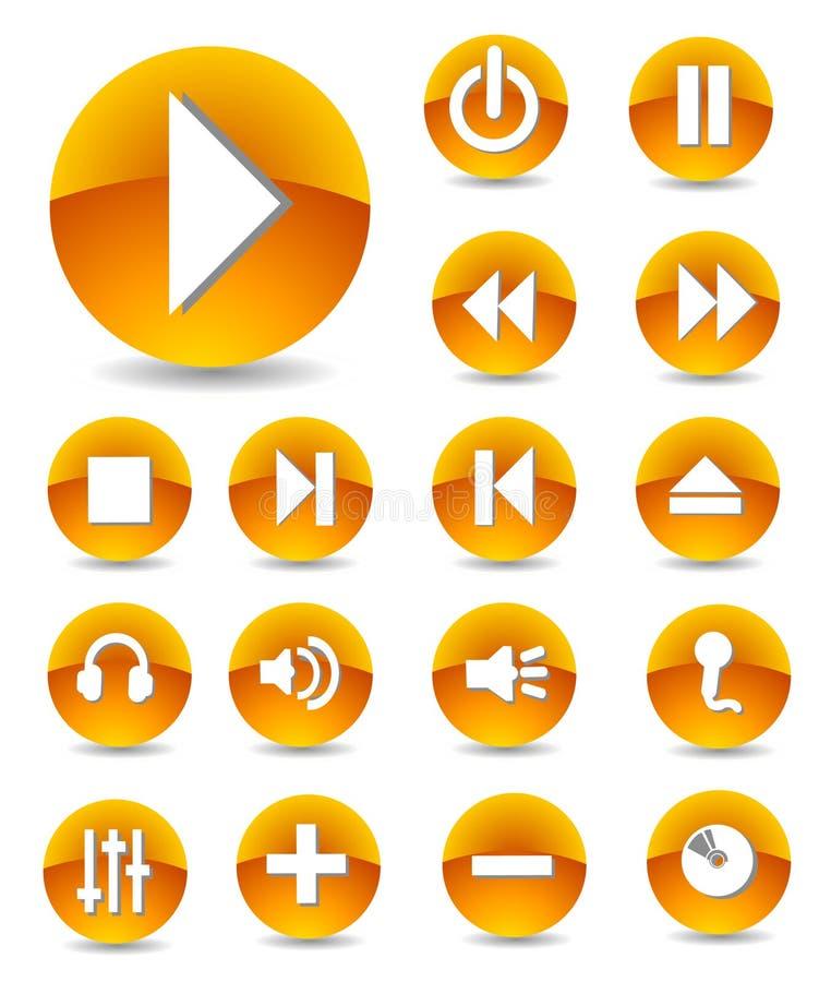 Graphismes de multimédia réglés illustration stock