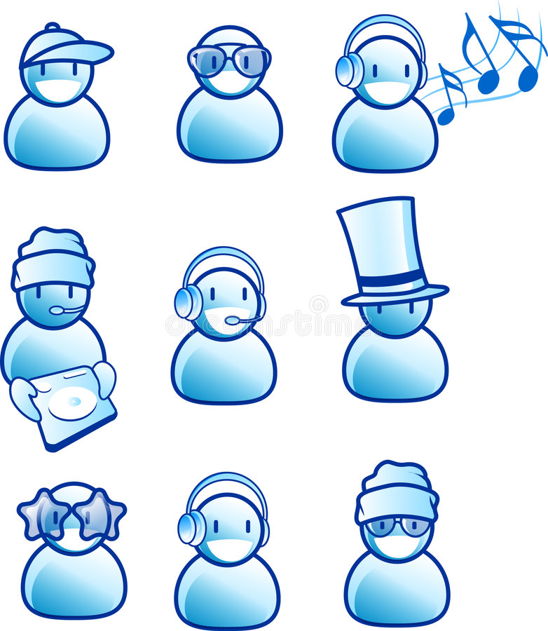 Download Graphismes De Musique Et De Gens Illustration Stock - Illustration du stars, artiste: 743874