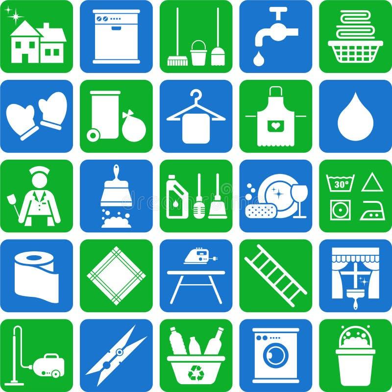 Graphismes de nettoyage de Chambre illustration de vecteur