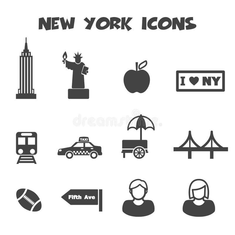 Graphismes de New York illustration stock